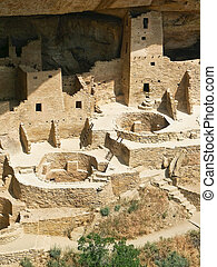 Cliff Palace, Mesa Verde National Park - A section of the...