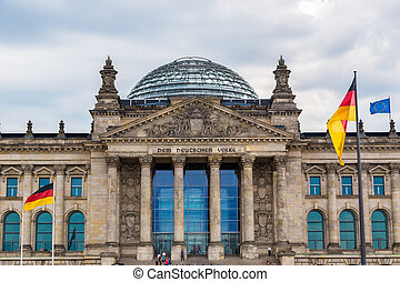 Reichstag building in Berlin - The Reichstag building in...