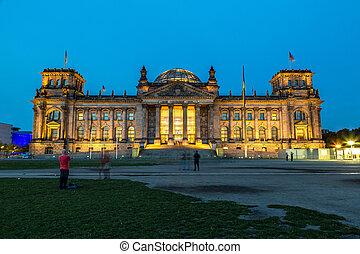 Reichstag building in Berlin, Germany