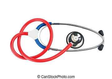 stethoscope on a white background - stethoscope on white...