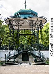 Gazebo in the Estrela Gardens in Lisbon - Gazebo in the...