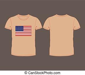 USA flag t-shirt