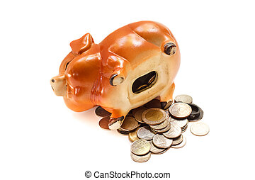 Piggy bank. - Piggy bank isolated on white background.