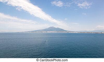 Viiew of the volcano Mount Vesuvius