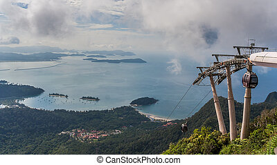 Cable car to the top of Langkawi island, Malaysia