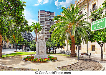 Statue in park  of Valencia -for Pintor Pinazo.