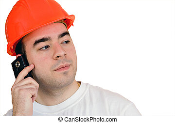 Isolated Construction Worker