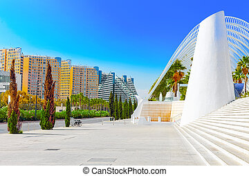 Landscaped walk tropic park (L'Umbracle) Valencia -...