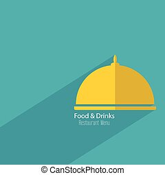 Restaurant menu design. Flat. Icon. drinks, cafe