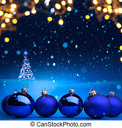 Christmas tree light - Christmas holidays background