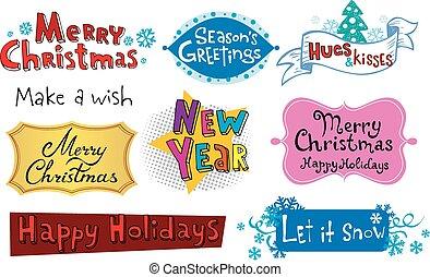 Festive Christmas inscriptions - Congratu