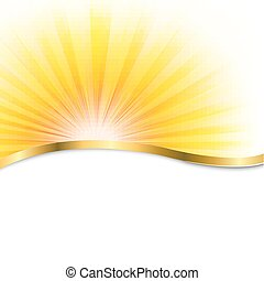 Sun Poster With Beams, With Gradient Mesh, Vector...