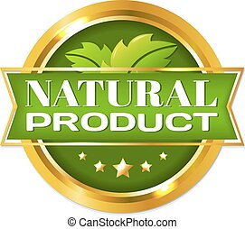 Natural Product Label, With Gradient Mesh, Vector...