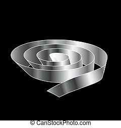 Silver Ribbon scroll
