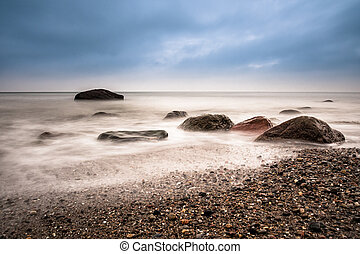 Stones on shore of the Baltic Sea