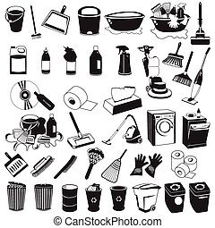 cleaning black icons - Great collection of each separately...