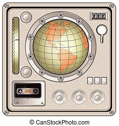 vintage control panel icon - Vector illustration of a...