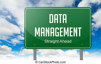 Data Management on Green Highway Signpost.