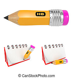 Set of Office Pencil and  Notebook.