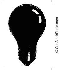incandescent lamp - black silhouette of incandescent lamp