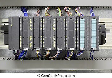Industrial PLC - Programmable logic controller in industry.