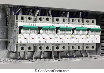 Miniature circuit breakers protecting industrial electric...