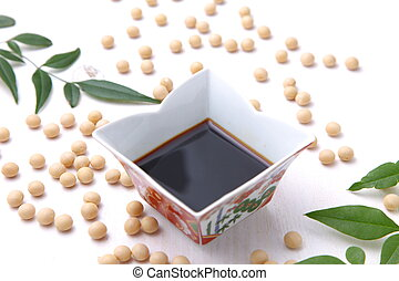 soy sauce - Japaneese traditional soybean processed...