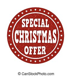 Special Christmas offer stamp