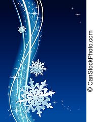 Blizzard - Winter snow background for decoration