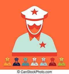 Flat design: police officer