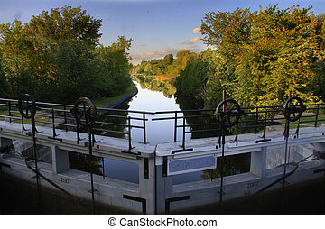 Rideau Canal - Rideau canal and locks, Ontario,Canada