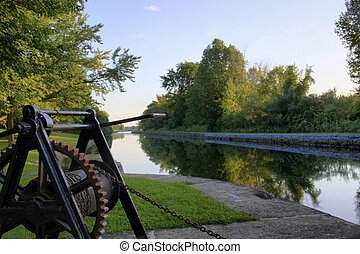 Rideau locks - Rideau canal and locks, Ontario, Canada
