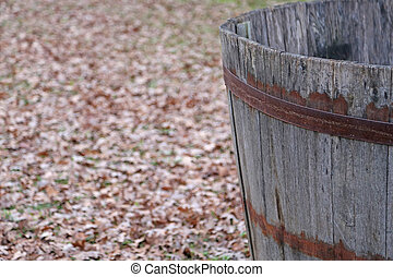 vintage tub to gather the grapes of the vineyard - for...