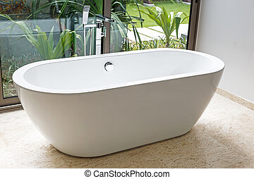 Bathtub in bathroom  - Bathtub in bathroom
