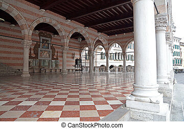 Loggia Lionello in Place of Freedom, Udine, Italy - The...