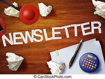 newsletter desktop memo calculator office think organize