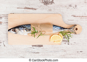Fresh mackerel fish - Delicious fresh mackerel fish on...