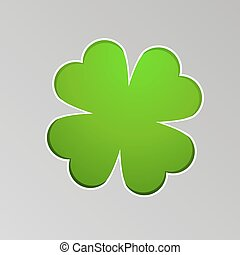 Vector drawing a lucky four-leaf clover
