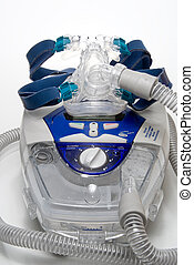 CPAP Machine - A CPAP Machine with a full face mask.