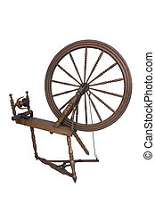 Spinning Wheel isolated over white background