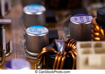 Motherboard capacitor
