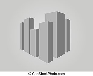 Abstract vector illustration of city center
