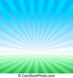 Abstract spring vector landscape