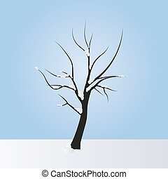 Simple vector tree in winter