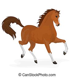 Horse running vector illustration