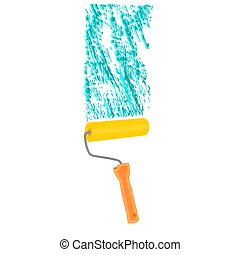 Paint roller paintroller repairman vector illustration