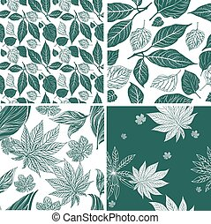 Vector seamless set of nine vintage