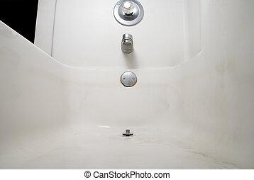 Dirty Bathtub - The inside of a Dirty Bathtub filled with...