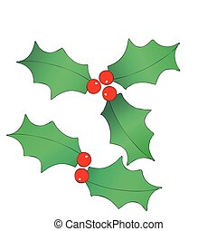 Christmas wreaths - Illustration representing a Christmas...