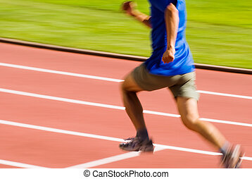 running blur sporter - It is a photo of running blur...